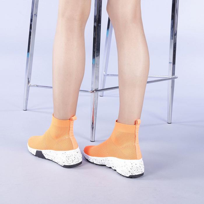 Pantofi sport dama Dalia portocalii 3