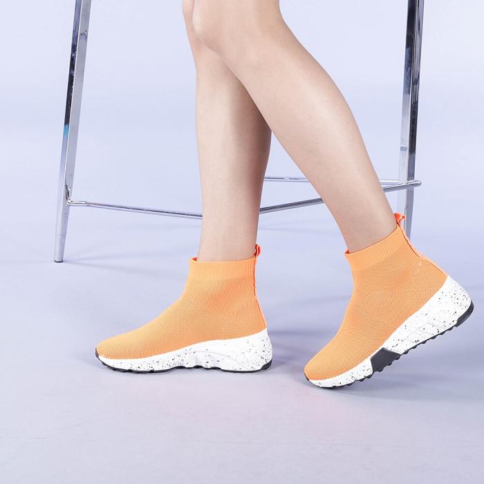 Pantofi sport dama Dalia portocalii 2