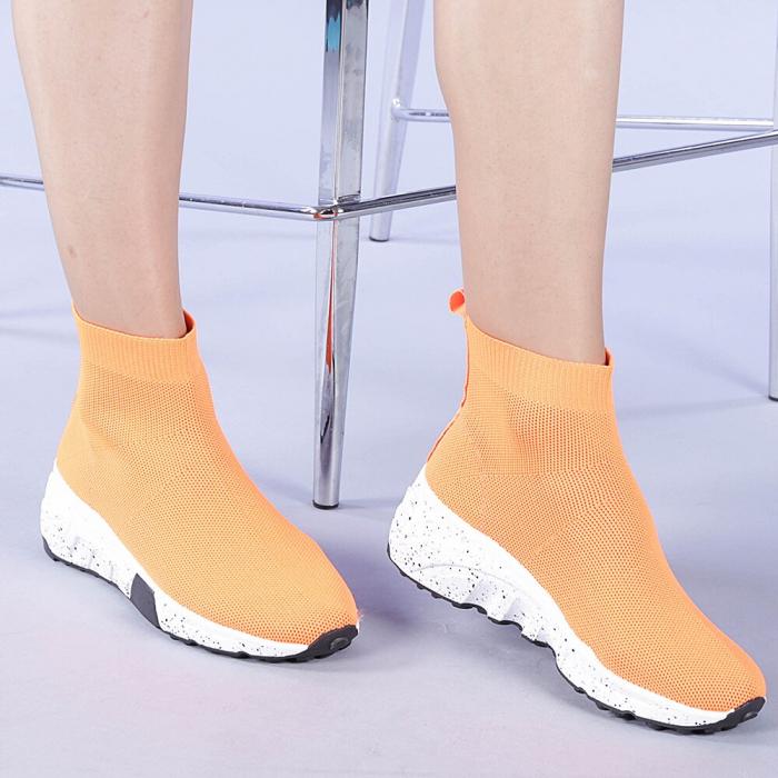 Pantofi sport dama Dalia portocalii 0
