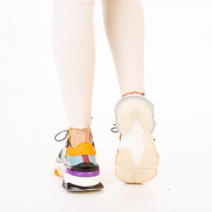 Pantofi sport dama Detta albastri multicolor 3