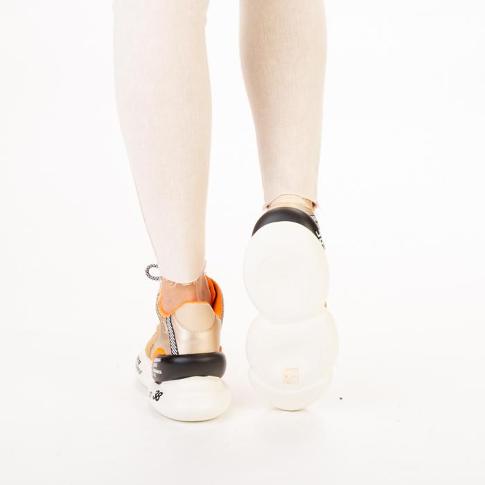 Pantofi sport dama Doreta bej multicolor 3
