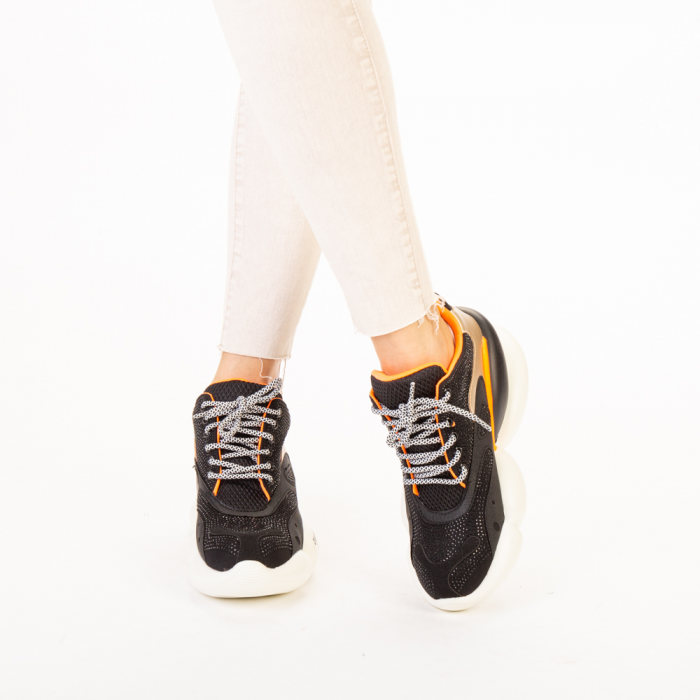 Pantofi sport dama Doreta negri 1