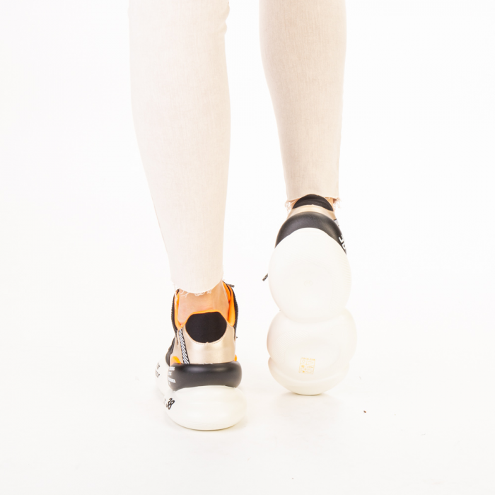 Pantofi sport dama Doreta negri 3