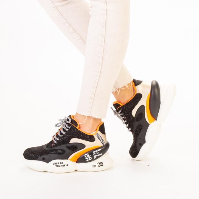 Pantofi sport dama Doreta negri 2