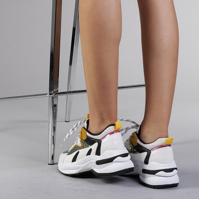 Pantofi sport dama Eduarda albi 3