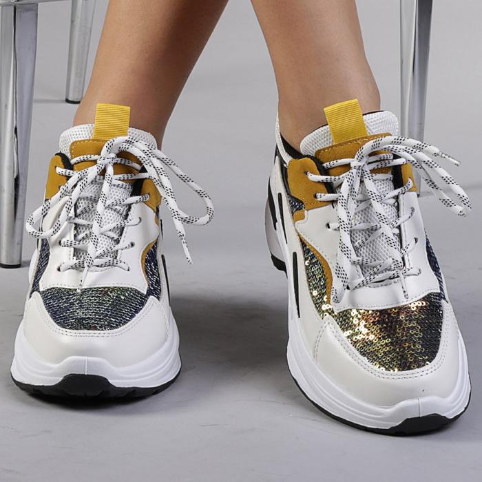 Pantofi sport dama Eduarda albi 0