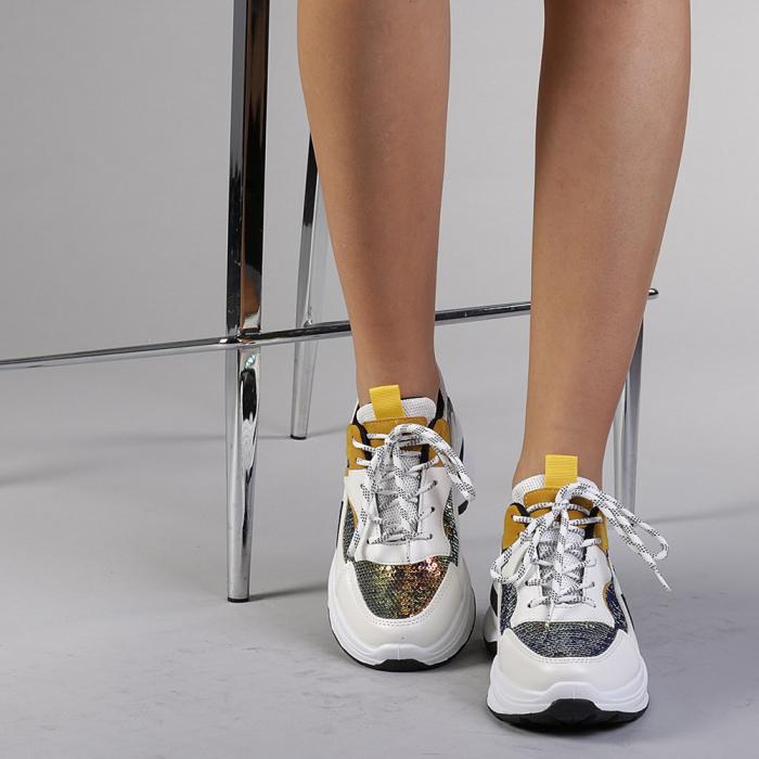 Pantofi sport dama Eduarda albi 1