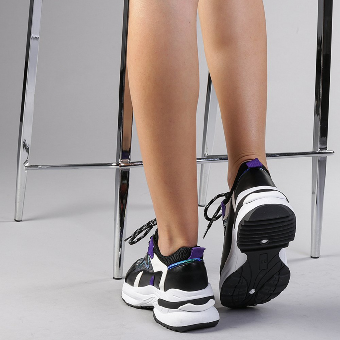 Pantofi sport dama Eduarda negri 3