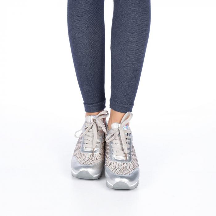 Pantofi sport dama Emillia argintii 2