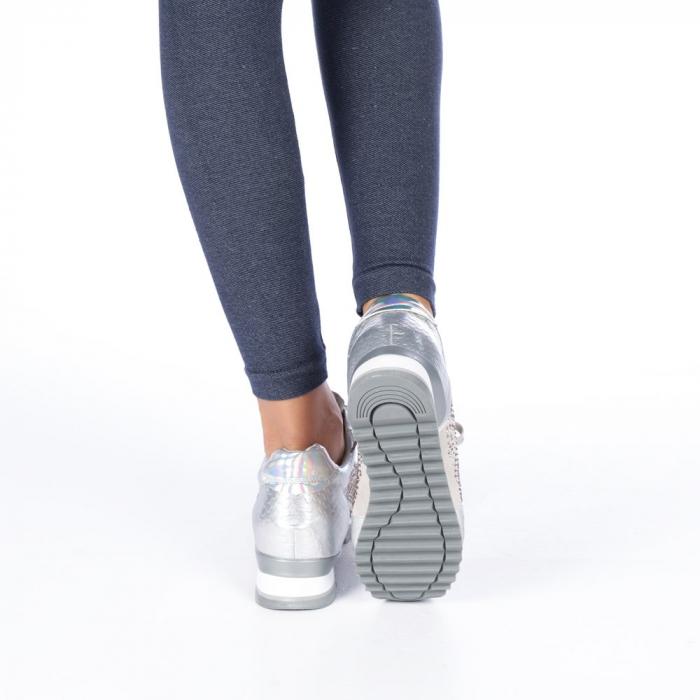 Pantofi sport dama Emillia argintii 1