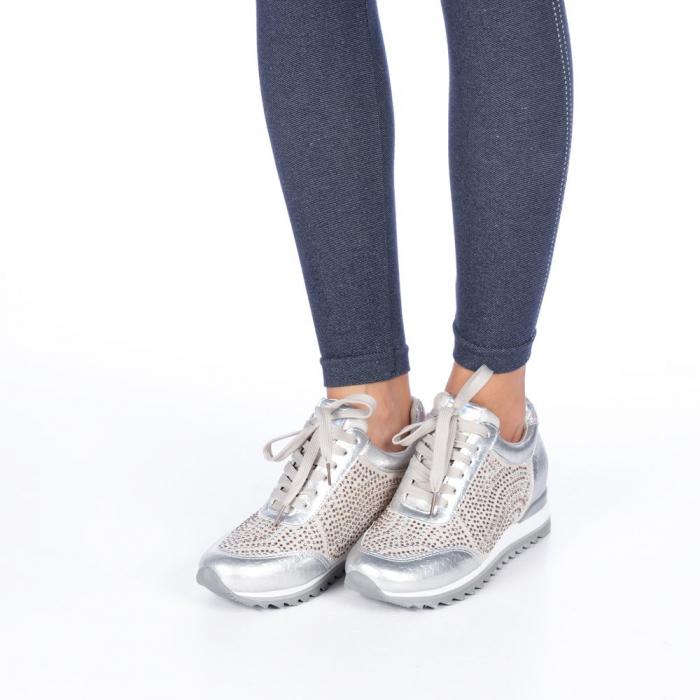 Pantofi sport dama Emillia argintii 4