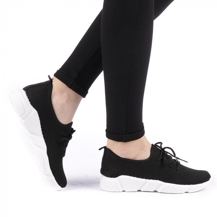 Pantofi sport dama Eunice negri 0