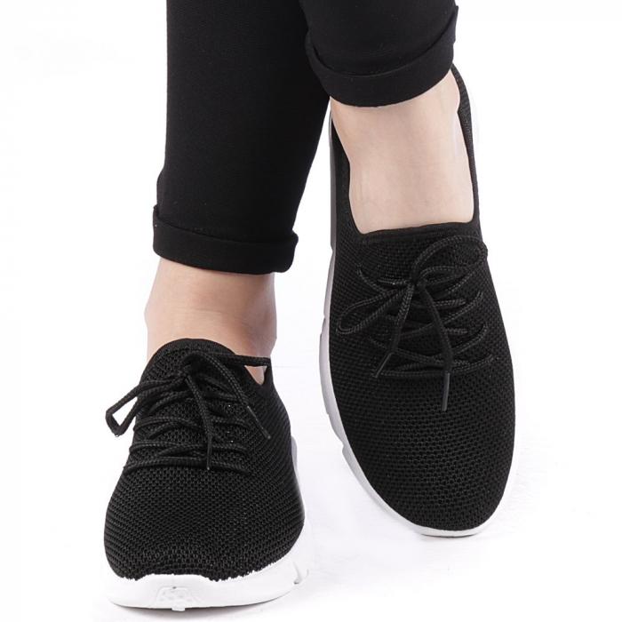 Pantofi sport dama Eunice negri 4