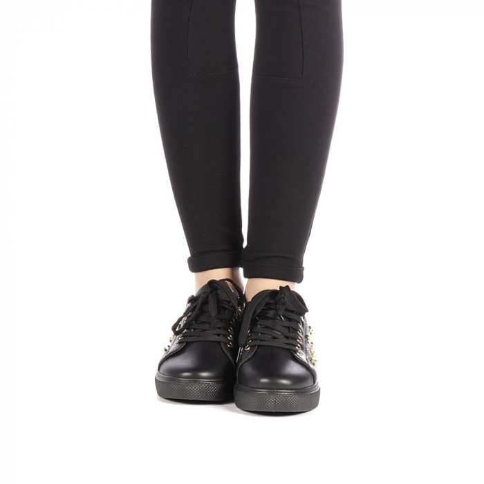 Pantofi sport dama Farimo negri 4