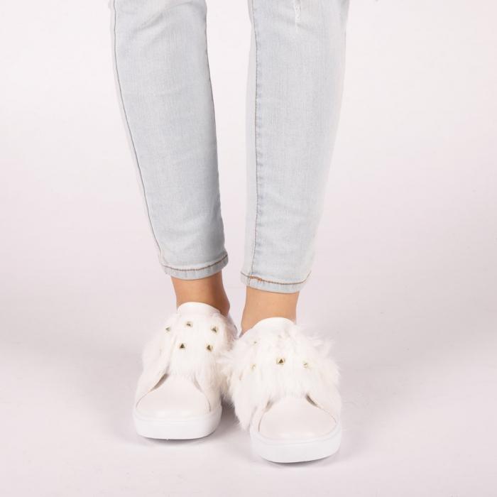 Pantofi sport dama Fedora albi 1