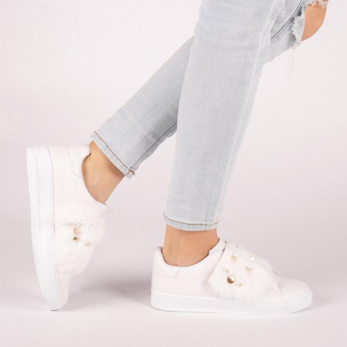 Pantofi sport dama Fedora albi 0
