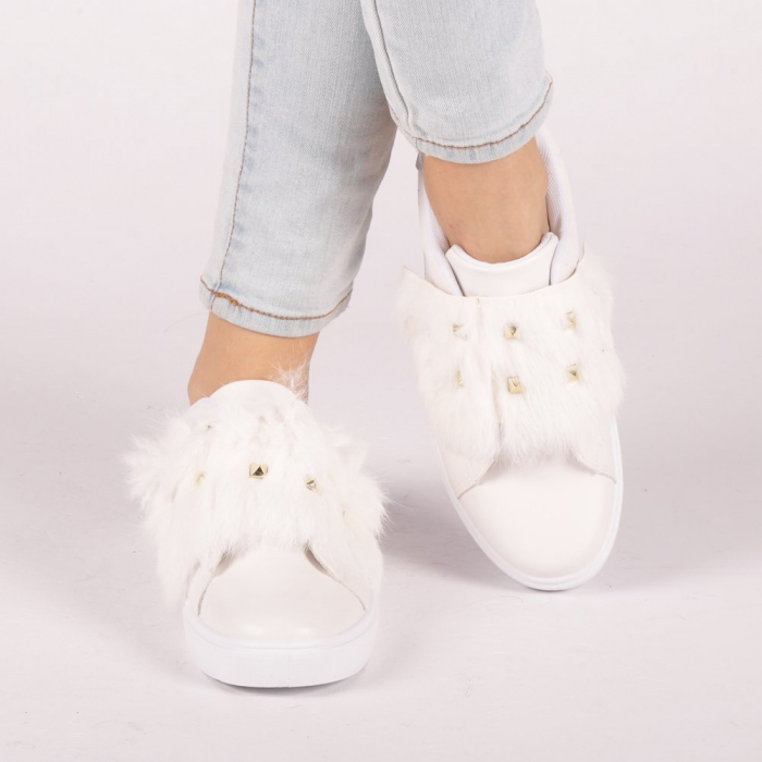Pantofi sport dama Fedora albi 4