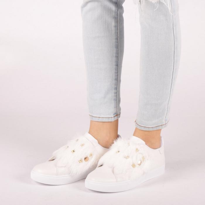 Pantofi sport dama Fedora albi 3