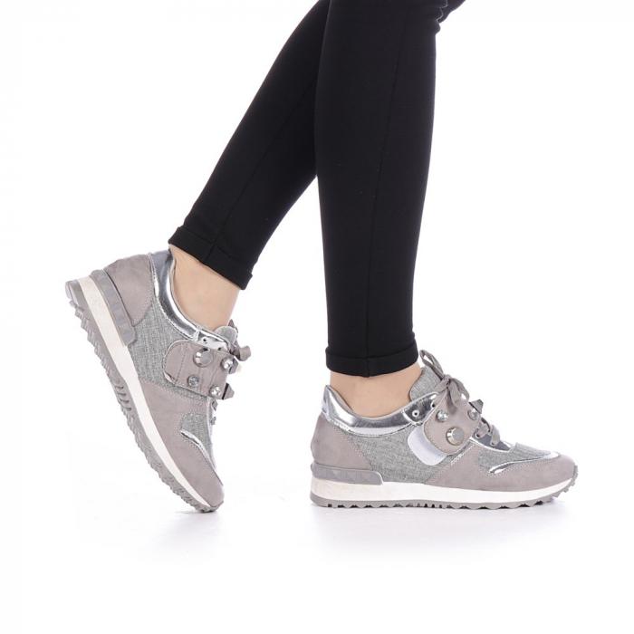 Pantofi sport dama Femos argintii 0