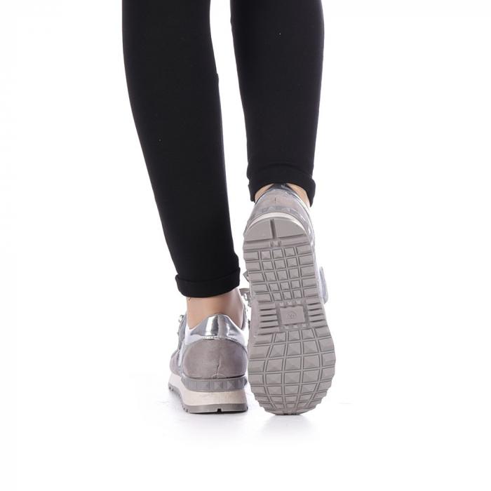 Pantofi sport dama Femos argintii 1