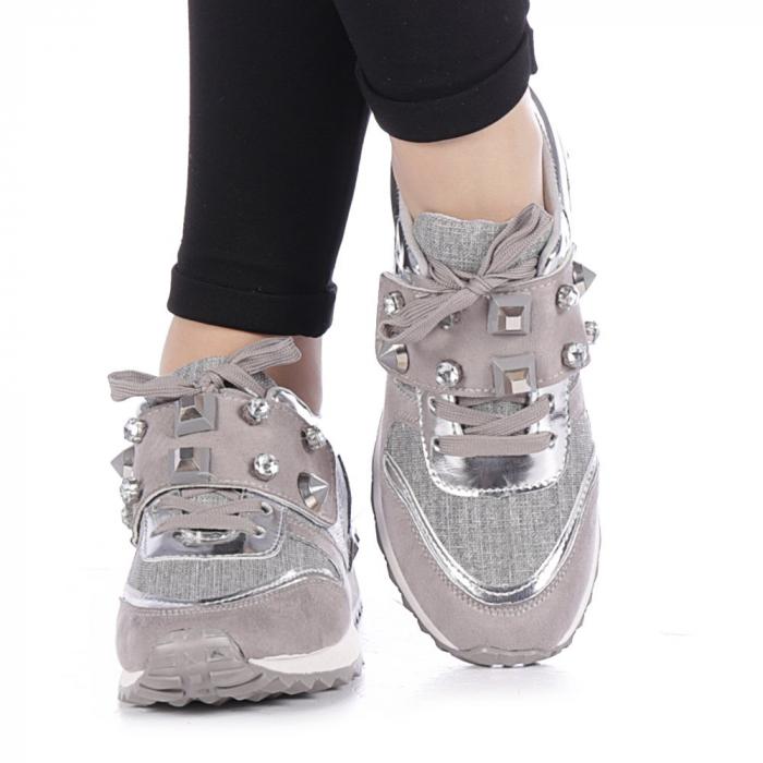 Pantofi sport dama Femos argintii 3