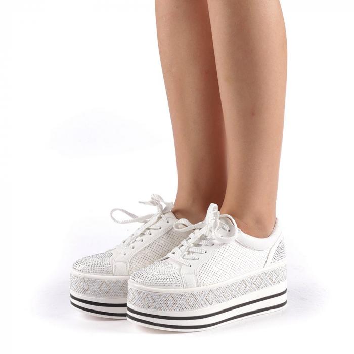 Pantofi sport dama Feodora albi 1