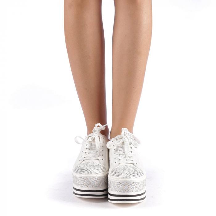 Pantofi sport dama Feodora albi 3