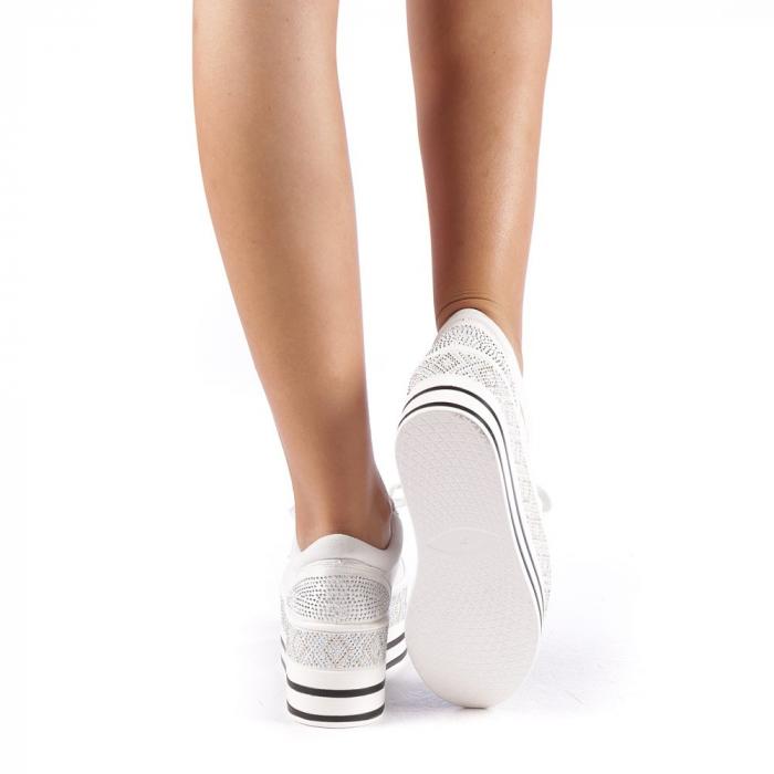 Pantofi sport dama Feodora albi 2