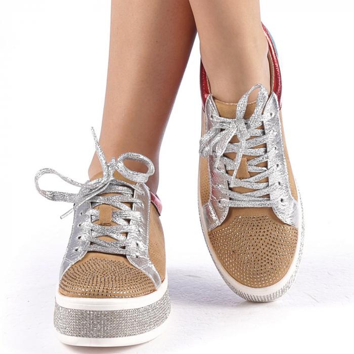 Pantofi sport dama Flavia camel 4