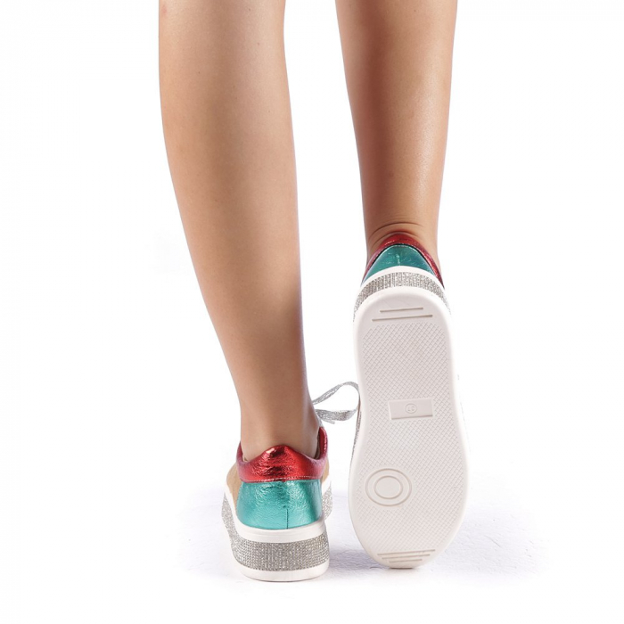 Pantofi sport dama Flavia camel 2