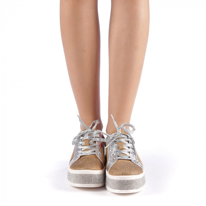 Pantofi sport dama Flavia camel 3