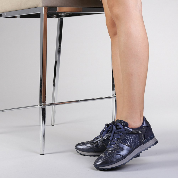 Pantofi sport dama Fleurette albastri 3