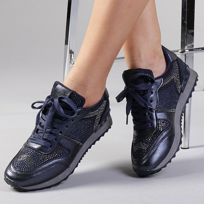 Pantofi sport dama Fleurette albastri 0