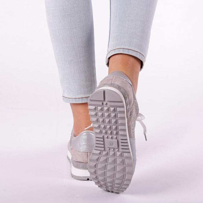 Pantofi sport dama Fleurette argintii 4