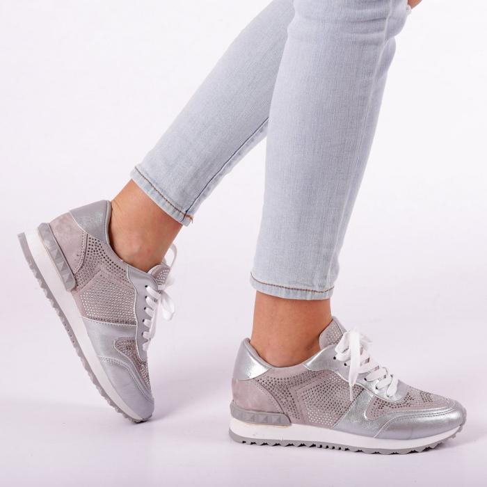 Pantofi sport dama Fleurette argintii 0