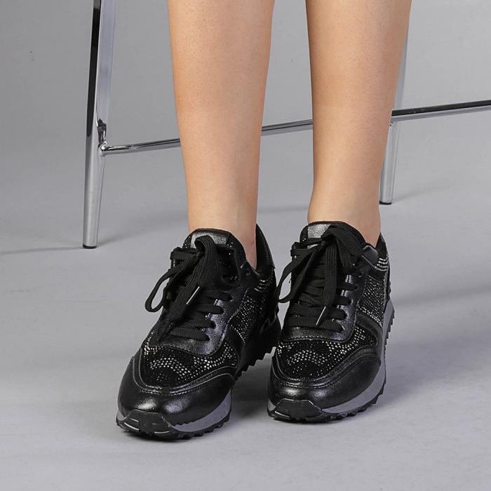Pantofi sport dama Fleurette negri 0