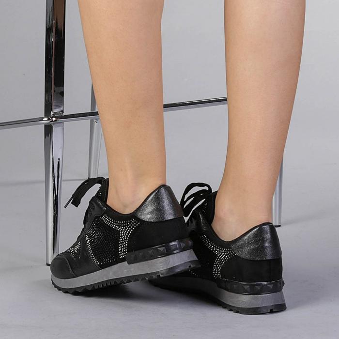 Pantofi sport dama Fleurette negri 3