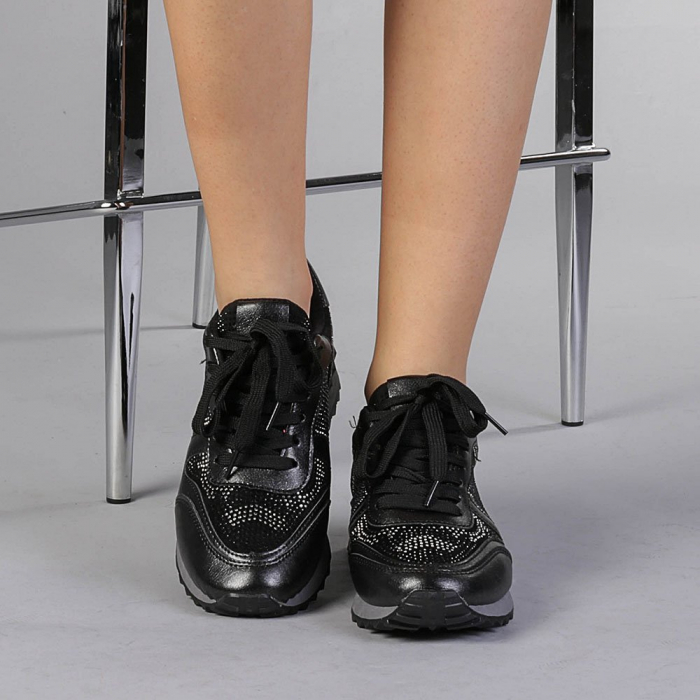 Pantofi sport dama Fleurette negri 1