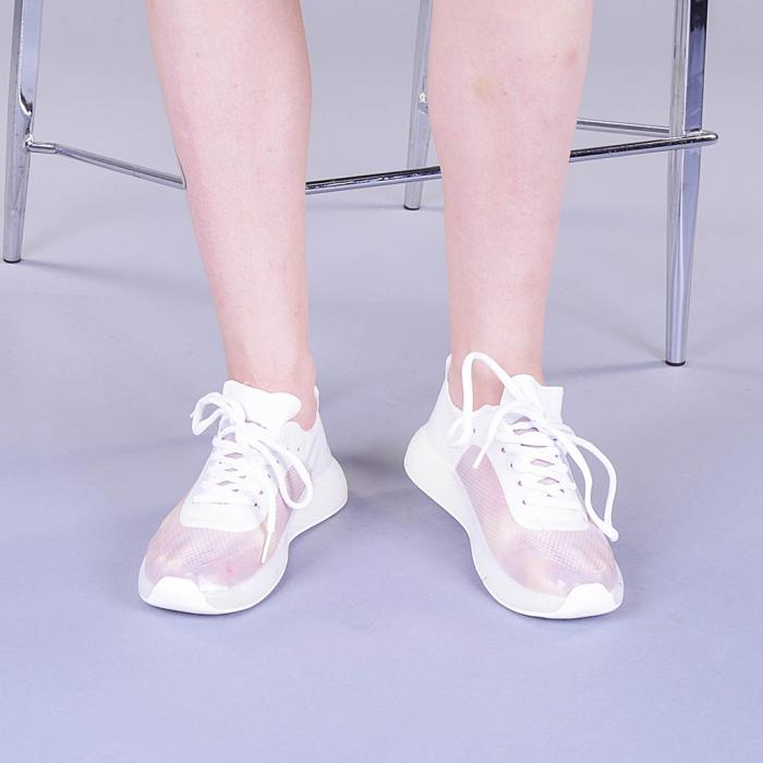 Pantofi sport dama Ginia albi 2
