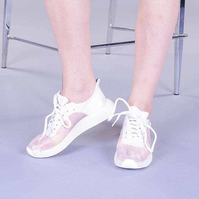Pantofi sport dama Ginia albi 3