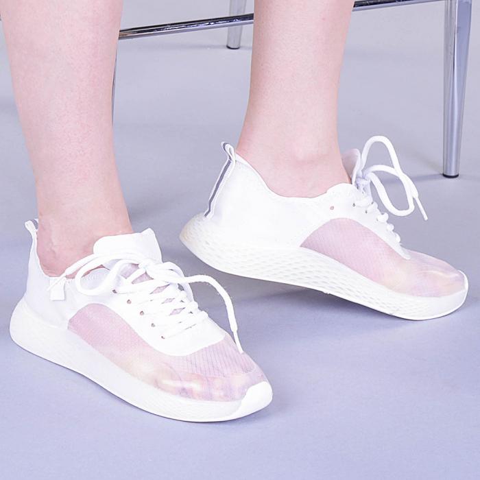 Pantofi sport dama Ginia albi 0