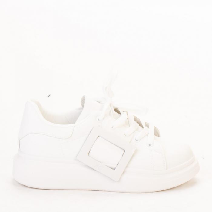 Pantofi sport dama Idona albi 0