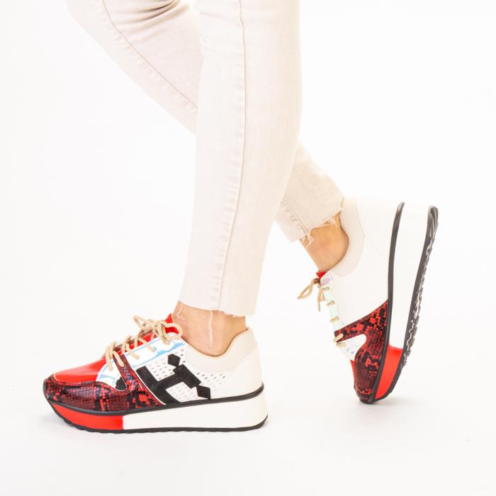 Pantofi sport dama Karem rosii 2