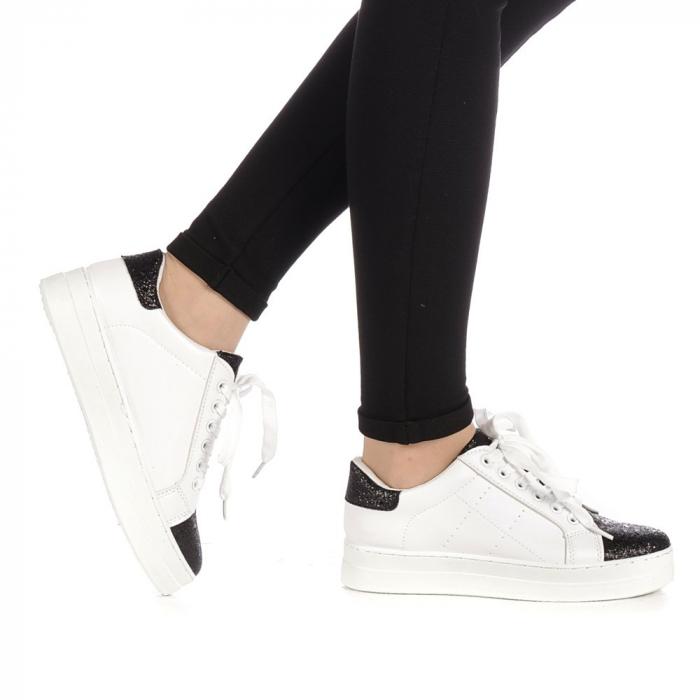 Pantofi sport dama Laila albi 0