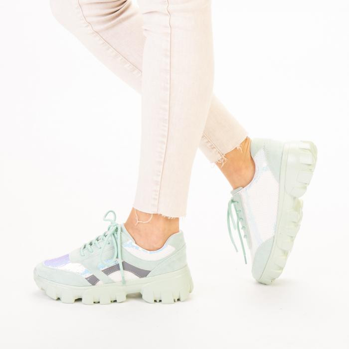 Pantofi sport dama Liberta verzi 2