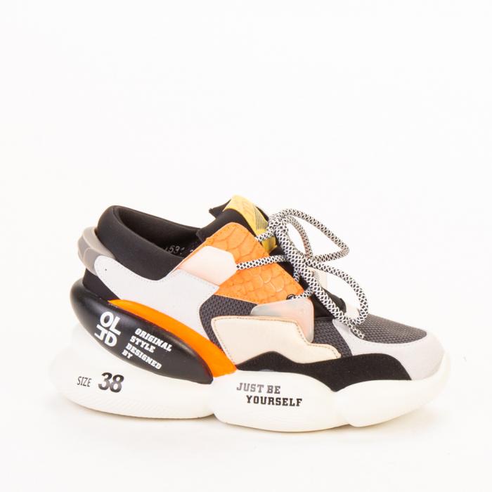 Pantofi sport dama Live gri multicolor 0
