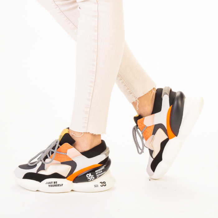 Pantofi sport dama Live gri multicolor 2
