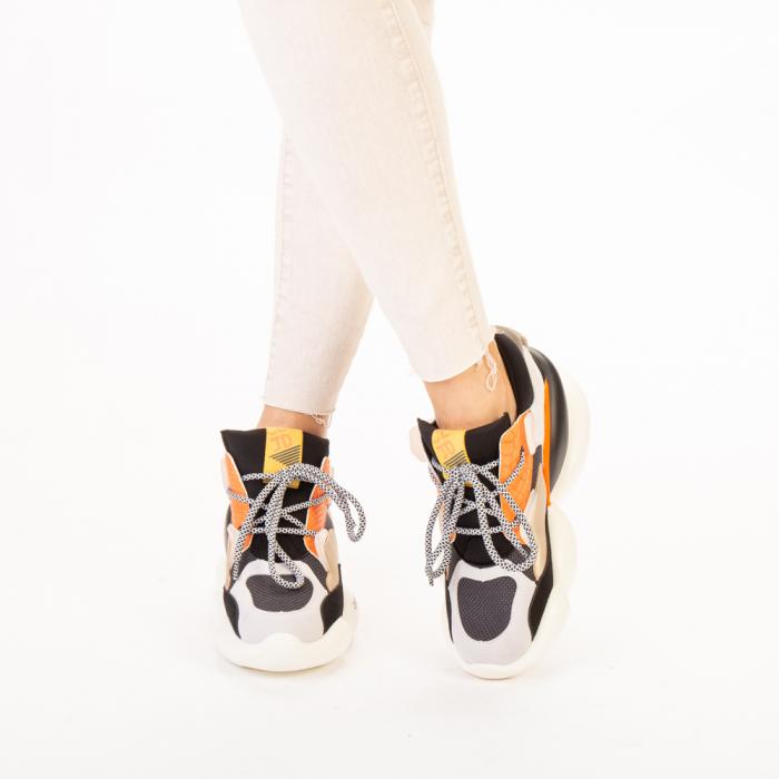 Pantofi sport dama Live gri multicolor 1