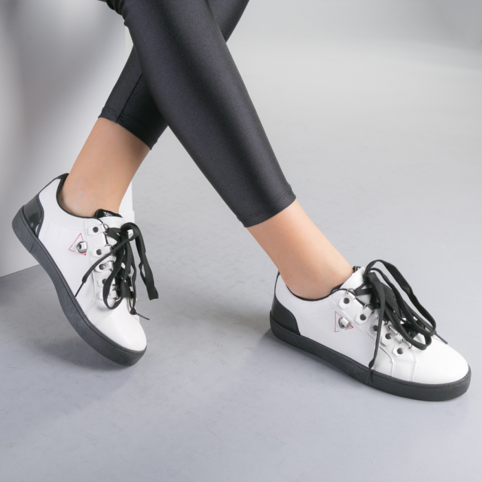 Pantofi sport dama Lucille albi 2