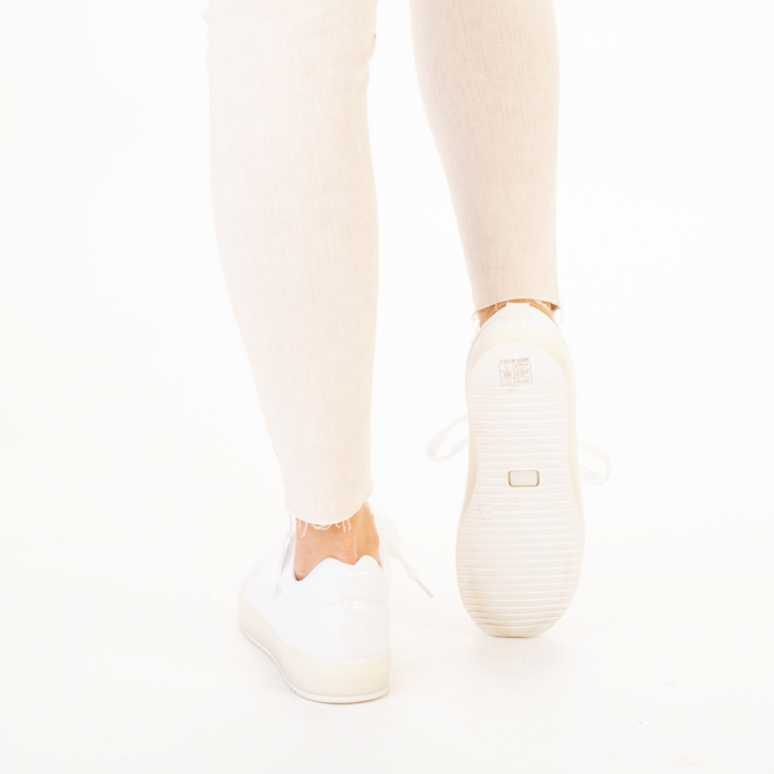 Pantofi sport dama Luela albi 3